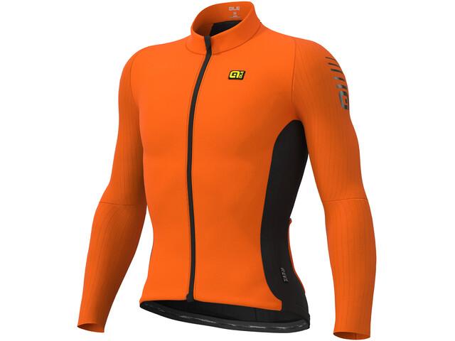 Alé Cycling Clima Protection 2.0 Warm Race Koszulka rowerowa z zamkiem błyskawicznym Mężczyźni, fluo orange